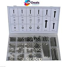 Toolzone 224pc Stainless Steel Nuts and Bolts Hw037