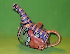 SHIN JI Ceramics art pottery WATERING CAN w/ colorful fruit. Signed & dated.
