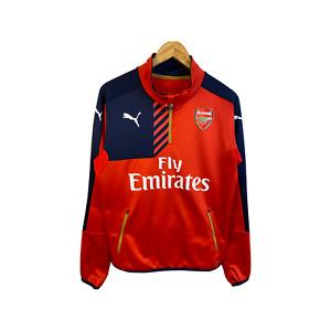 RARE ARSENAL LONDON ORIGINAL PUMA FOOTBALL TRAINING JACKET COAT JERSEY SIZE M