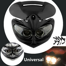 """Universal Motorcycle Motocross Headlight Fairing Light Dual Fighter Dirt Bikes"