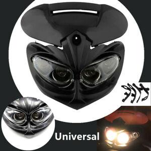 Motorcycle Motocross Headlight Fairing Light Dual Fighter Dirt Bikes
