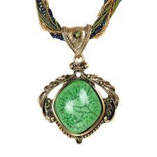 Popular Fashion Vintage Women Bohemian Crystal Necklace Opal Necklace JEWEL C3l5 Green