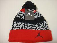 Michael Jordan Jump man PomPom Youth Beanie Hat Color Red Gray Black 8/20