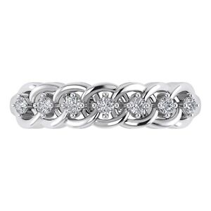14K White Gold Finish Round Cut Diamond Adjustable Toe Ring For Womens TRG0079