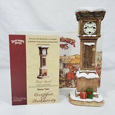 David Winter D1173 Winter Time Grandfather Clock 2001 Event Special Rare