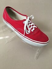 VANS WOMENS SHOES - 10.5 RED TENNIS SNEAKERS ATHLETIC CASUAL MENS SIZE 9