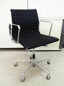Vitra Alu Chair EA 117 in Hopsak schwarz - drehbar -  Charles und Ray Eames