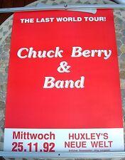 CHUCK BERRY 1992 last world tour poster 33 x 23  original