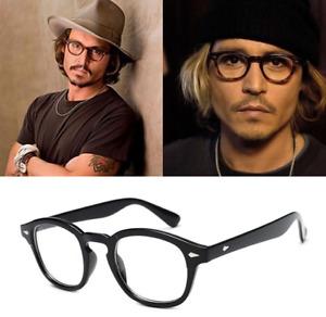 Deluxe Classic Retro Acetate Eyeglass frames Johnny Depp Glasses Spectacles 44mm