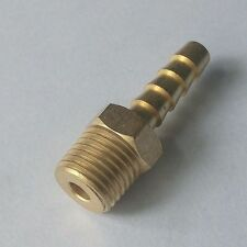 "Brass Male Straight Barb Fitting Hose 1/4"" ID 1/4"" NPT"