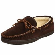 Tamarac Mens Arizona Leather Closed Toe Slip On Slippers, Rootbeer, Size 12.0 w0