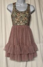 Weissman Dance Costumes Women's Pink Floral Lace Tulle Dance Dress Size Adult M