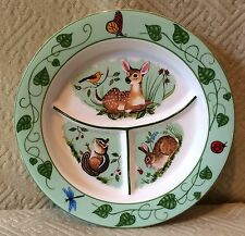 Lynn Chase Designs Forest Friends Divided Child's Plate 2003