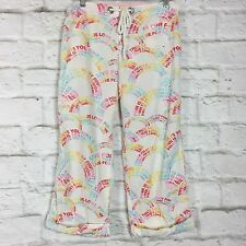 "Victoria's Secret Pajama Pants Lounge S Cotton ""Live For Pink"" FR"