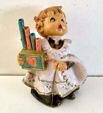 Vintage Fontanini Altar Server Figurine Organ Grinder Simonetti Italy Chior Boy