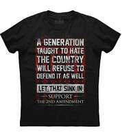 A Generation Taught To Hate the Country, Men's New Patriotic Black T-shirt