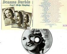 DEANNA DURBIN-CAN'T HELP SINGING CD (26 SONGS TOTAL)