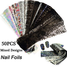 Decors Holographic Starry Sky Nail Stickers Nail Foils Decals Nail Art.