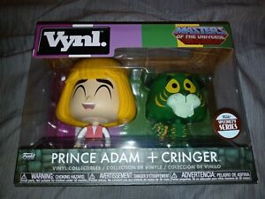 FUNKO VYNL. MASTERS OF THE UNIVERSE PRINCE ADAM & CRINGER Specialty Series