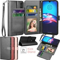 For Motorola Moto E 2020 Leather Wallet Case Flip Card Stand Cases Cover