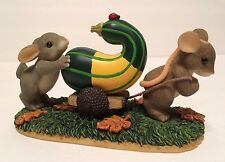 """Charming Tails """"Friends Are A Rich Harvest"""" 85/506 Mouse, Rabbit & Gourd Fitz"""