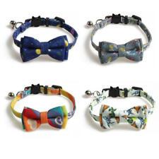 Pet Collar Cat Cute Print Bell Bowtie Adjustable Safe Collar for Cat Dog Puppy