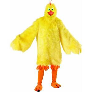 Chicken Yellow Fur Deluxe size O/S Adult Chick Costume Plush Jumpsuit Seasons