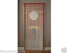 Puesta de Sol Bambú Puerta Cortinas granos Cables * hecho a mano pantalla MOSCAS interior al aire libre