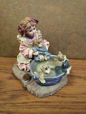 Yesterdays Child Dollstone Collection Boyds Wash Day Wendy Bronte Keats Poe 1997