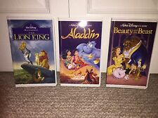 Set of 3 Aladdin, Beauty & The Beast, Lion King Vhs Illusion Journal Notebook