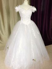 Wedding Dress Vintage 4 Hoop Style Imperial Size Fr38 Us6 Uk10