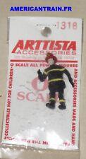 Figurine métal pompier Américain échelle O Arttista
