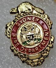 SYDNEY FIRE DEPARTMENT -RESCUE CAPE BRETON CANADA SMALL Lapel Pin Mint