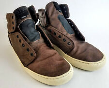 VANS OTW Men s 11 Brown Leather High Top Shoes Skater Lace Up Off the Wall bdc6a414b