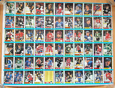 1989-90 OPC O-PEE CHEE HOCKEY UNCUT SHEET 66 CARD NM TREVOR LINDEN RC BRETT HULL