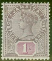Jamaica 1898 1d Purple & Mauve SG27 Fine Mtd Mint