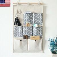 US Wall Door Hanging Storage Bag Organizer Wardrobe Closet Pocket Container OCCA