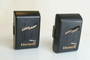 Lot of 2 Anton Bauer Interactive 2000 50 Hytron Battery As Is Parts