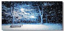 20x40 BACKDROP Snow FALLING BLIZZARD Christmas Village Display platform Dept 56