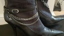 ladies high leg boots
