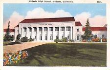 Modesto California~Modesto High School~1920s Postcard
