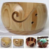 1Pc Crochet Skeins Holder Wooden Yarn Bowl For Knitting Storage Crochet Wool Acc