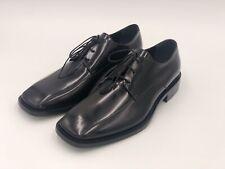 Balenciaga Square Toe Leather Derby Shoes