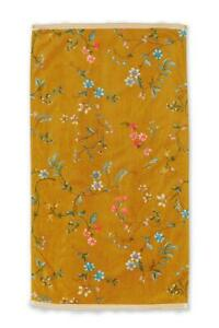 PIP Studio Les Fleurs Yellow 100% Baumwolle Duschtuch Handtuch Gästetuch Gelb