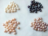 Half drilled Teardrop genuine natural freshwater pearl loose beads USA BY EUB