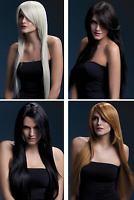 "NEW Fever Long Straight Fringe Realistic Wig 28"" Amber - Ladies Fancy Dress"