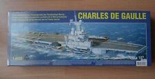 Modellbausatz Charles de Gaulle 1:600 Motor Flugzeugträger NEU Schiff