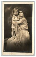 Vintage Early 1900's RPPC Beautiful German Woman & Child POSTED