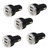 5x Black USB Car Charger Adapter 2.1A For LG HTC Samsung iPhone All Cell Phone
