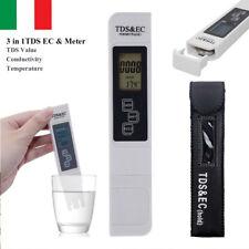 Misuratore EC &TDS Tester Conduttivimetro conducibilità Water Tester Temperature